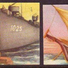 Coleccionismo Cromos antiguos: CHOCOLATE Y GALLETAS SOLSONA.HISTORIA DEL TRANSPORTE MARITIMO.CROMO NR.89 + EL 6 DEFECTUOSO.RECORTAD. Lote 39959987