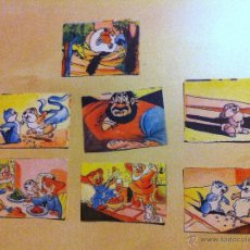 Coleccionismo Cromos antiguos: 7 CROMOS DE LOS SIETE ENANITOS Y EL CONEJITO THUMPER. BRUGUERA. Lote 40187772