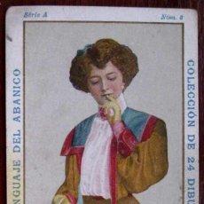 Coleccionismo Cromos antiguos: CROMO DE LA COLECCION LENGUAJE DEL ABANICO. Nº 7. CHOCOLATES PI. BARCELONA, PRINCIPIOS DEL SIGLO XX . Lote 38262092