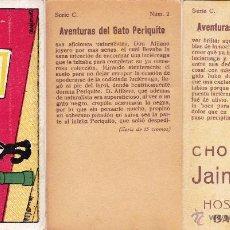Coleccionismo Cromos antiguos: COLECCIÓN COMPLETA SERIE C. DE 15 CROMOS. AVENTURAS DEL GATO PERIQUITO. FÉLIX EL GATO. 1920'S.. Lote 40259475