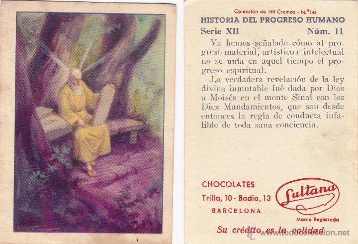 LOTE DE CROMOS. CROMOS SUELTOS; 0,80 €. HISTORIA DE PROGRESO HUMANO. CHOCOLATE CHOCOLATES SULTANA. (Coleccionismo - Cromos y Álbumes - Cromos Antiguos)