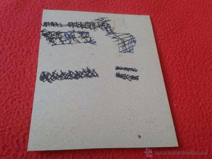 Coleccionismo Cromos antiguos: PARTE TRASERA DEL CARTON. PINTADA. - Foto 7 - 40848420