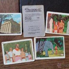 Coleccionismo Cromos antiguos: TARZAN 5 CROMOS DE PANRICO. Lote 40857596