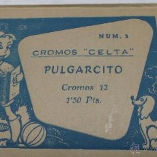 Coleccionismo Cromos antiguos: CROMOS 'CELTA' Nº 3. PULGARCITO. 12 CROMOS CON SU SOBRE CERRADO. Lote 41049707
