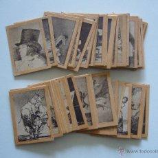 Coleccionismo Cromos antiguos: CROMOS. SERIE Nº 29 LOS CAPRICHOS DE GOYA. COLECCIÓN COMPLETA DE 75 FOTOTIPIAS. CAJAS DE CERILLAS. Lote 41058669