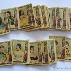 Coleccionismo Cromos antiguos: CROMOS. SERIE Nº 27 MUJERES ESCRITORAS Y POETAS. COLECCIÓN COMPLETA DE 75 FOTOTIPIAS. CAJAS CERILLAS. Lote 41059470