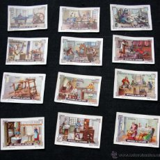 Coleccionismo Cromos antiguos: 12 CROMOS DE OFICIOS DE ANTAÑO - NESTLE - MI ALBUM - SERIE 55 -. Lote 41282344
