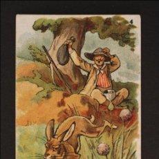 Coleccionismo Cromos antiguos: ANTIGUO CROMO DE CHOCOLATE AMATLLER - PROVERBIOS EN ACCIÓN. 4 - ILUS. APELES MESTRES - 12,8 X 7,8 CM. Lote 178398456