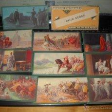 Coleccionismo Cromos antiguos: JULIO CESAR,CROMOS CULTURALES,SERIE COMPLETA,AÑOS 40,ED-BARSAL. Lote 41677679