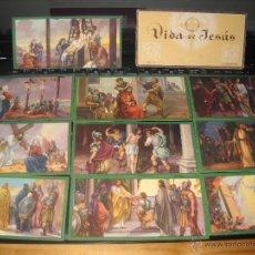 Coleccionismo Cromos antiguos: VIDA DE JESUS,10 ESTAMPAS SERIE Nº3,EDICIONES BARSAL:BARGUÑO Y SALVAT. Lote 41678156