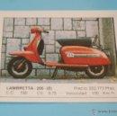 Coleccionismo Cromos antiguos: CROMO DE:MOTOS,LAMBRETTA,(DESPEGADO),Nº89,DEL ALBUM MOTOS,DE MOTOR 16,EDICIONES UNIDAS. Lote 168689938