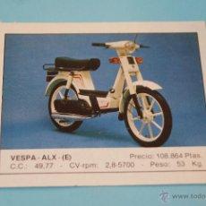 Coleccionismo Cromos antiguos: CROMO DE:MOTOS,VESPA,(DESPEGADO),Nº141,DEL ALBUM MOTOS,DE MOTOR 16,EDICIONES UNIDAS. Lote 218688352