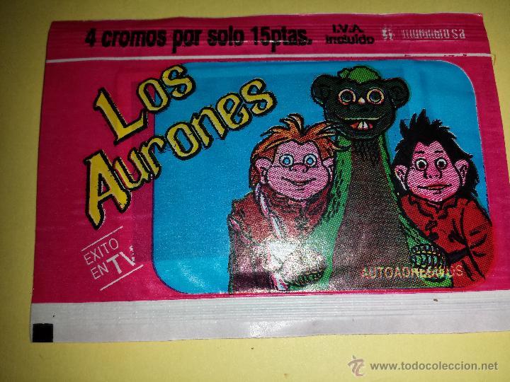 CROMO LOS AURONES SOBRE CERRADO 4 CROMOS (Coleccionismo - Cromos y Álbumes - Cromos Antiguos)