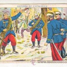 Coleccionismo Cromos antiguos: CROMO CHOCOLATES JUNCOSA HISTORIA DE CATALUNYA - CONSULTE FALTAS - SON EN CATALAN - PEDIR FALTAS. Lote 159350254