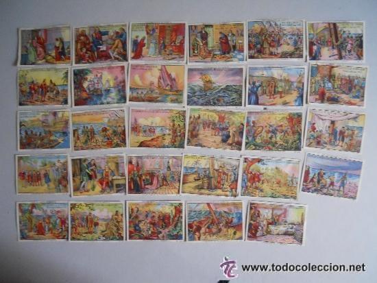 COLECCIÓN CROMOS EL DESCUBRIMIENTO DE AMÉRICA (Coleccionismo - Cromos y Álbumes - Cromos Antiguos)