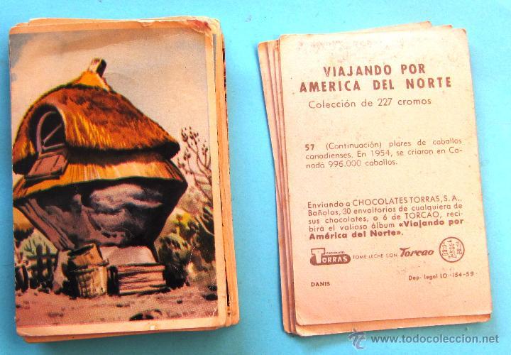 LOTE DE CROMOS. PRECIO POR CROMO; 0,50 €. VIAJANDO POR AMÉRICA DEL NORTE. CHOCOLATES TORRAS, 1959. (Coleccionismo - Cromos y Álbumes - Cromos Antiguos)
