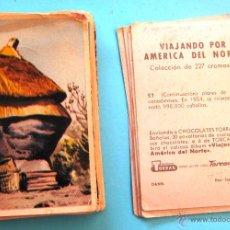 Coleccionismo Cromos antiguos: LOTE DE CROMOS. PRECIO POR CROMO; 0,50 €. VIAJANDO POR AMÉRICA DEL NORTE. CHOCOLATES TORRAS, 1959.. Lote 42411724