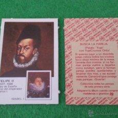 Coleccionismo Cromos antiguos: PAREJAS DE FAMOSAS DE ORTIZ NUMERO 16. Lote 42780689