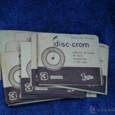 Coleccionismo Cromos antiguos: DISC-CROM-LOTE DE 10 SOBRES DE CROMOS DE 3 CROMOS EL SOBRE. Lote 89580716