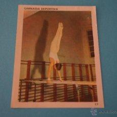 Coleccionismo Cromos antiguos: CROMO DE:GIMNASIA RITMICA,(DESPEGADO),Nº17,DEL ALBUM,CONTAMOS CONTIGO,AÑO 1968,DE COLED. Lote 198960771