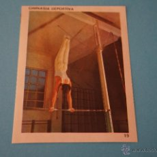 Coleccionismo Cromos antiguos: CROMO DE:GIMNASIA RITMICA,(DESPEGADO),Nº19,DEL ALBUM,CONTAMOS CONTIGO,AÑO 1968,DE COLED. Lote 198960755