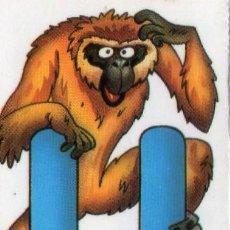 Coleccionismo Cromos antiguos: ANIMALETRAS - LETRA U DE UAU-UAU - FAUNA EN PELIGRO - BOLLYCAO - NUNCA PEGADO.. Lote 43284860