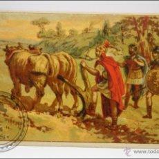 Coleccionismo Cromos antiguos: ANTIGUO CROMO - HISTORIA ROMANA. Nº 2 - MEDIDAS 10 X 7 CM. Lote 43358298