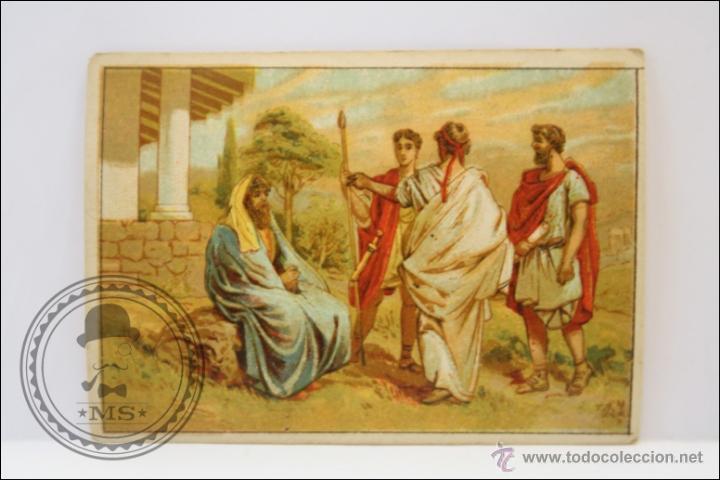 ANTIGUO CROMO - HISTORIA ROMANA. Nº 5 - MEDIDAS 10 X 7 CM (Coleccionismo - Cromos y Álbumes - Cromos Antiguos)
