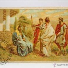 Coleccionismo Cromos antiguos: ANTIGUO CROMO - HISTORIA ROMANA. Nº 5 - MEDIDAS 10 X 7 CM. Lote 43358313