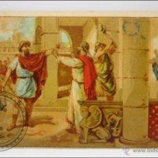 Coleccionismo Cromos antiguos: ANTIGUO CROMO - HISTORIA ROMANA. Nº 10 - MEDIDAS 10 X 7 CM. Lote 43358334