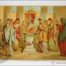 Coleccionismo Cromos antiguos: ANTIGUO CROMO - HISTORIA ROMANA. Nº 13 - MEDIDAS 10 X 7 CM. Lote 43358346