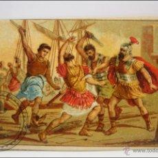 Coleccionismo Cromos antiguos: ANTIGUO CROMO - HISTORIA ROMANA. Nº 40 - MEDIDAS 10 X 7 CM. Lote 43358472