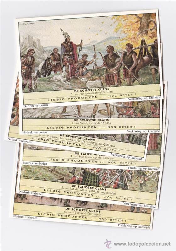 6 CROMO LIEBIG LOS CLANES ESCOCESES SAN1755FIAM PUBLICADO EN 1961 --REFM4E3 (Coleccionismo - Cromos y Álbumes - Cromos Antiguos)