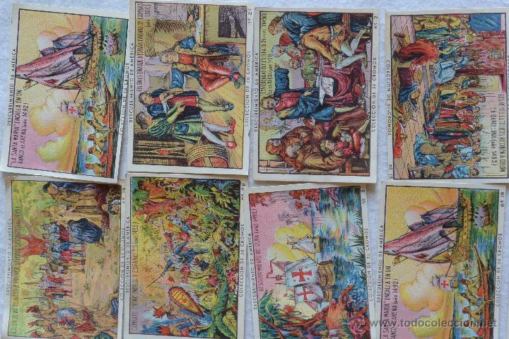 Coleccionismo Cromos antiguos: Colección cromos EL DESCUBRIMIENTO DE AMÉRICA - Foto 4 - 57573696