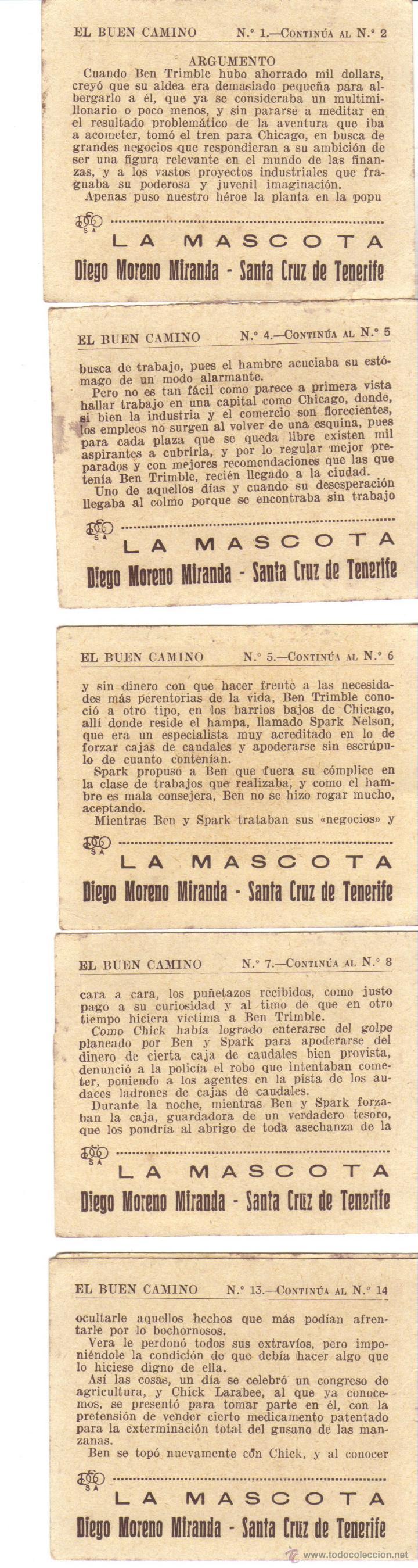 Coleccionismo Cromos antiguos: CROMOS LA MASCOTA - IMAGENES DE LA PELICULA EL BUEN CAMINO Y EL ARGUMENTO - RASTRILLO PORTOBELLO - Foto 2 - 44346984