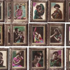 Coleccionismo Cromos antiguos: CROMOS LA MASCOTA - COLECCION ARTISTICA - RETRATOS FOTOGRAFICOS - RASTRILLO PORTOBELLO. Lote 44349419