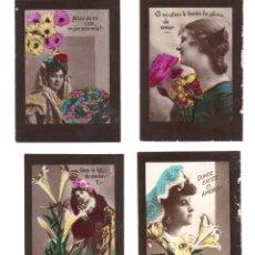 Coleccionismo Cromos antiguos: CROMOS LA MASCOTA - FOTOGRAFIAS DE MUJERES CON FRASES DE LA EPOCA - RASTRILLO PORTOBELLO. Lote 44349818