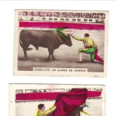 Coleccionismo Cromos antiguos: CROMOS LA MASCOTA - COLECCION DE ESCENAS DE TOROS - RASTRILLO PORTOBELLO. Lote 44351051