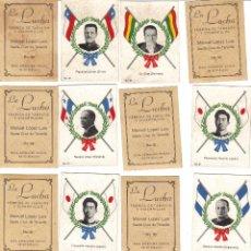Coleccionismo Cromos antiguos: CROMOS LA LUCHA - FÁBRICA DE TABACO - FIGURAS POLITICAS DEL MUNDO - RASTRILLO PORTOBELLO. Lote 44351952
