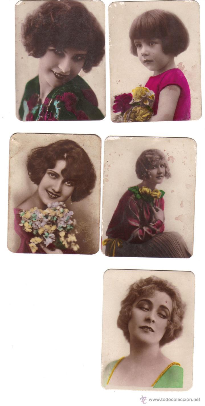 CROMOS LA MASCOTA- FÁBRICA DE TABACO - FOTOGRAFIA DE MUJERES BELLAS - RASTRILLO PORTOBELLO (Coleccionismo - Cromos y Álbumes - Cromos Antiguos)