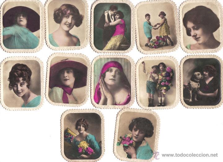 CROMOS CIGARRILLOS XXX -HABANO- FOTOGRAFIA DE MUJERES, NIÑOS, PAREJAS Y PERROS -RASTRILLO PORTOBELLO (Coleccionismo - Cromos y Álbumes - Cromos Antiguos)