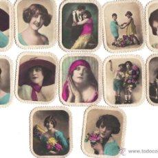 Coleccionismo Cromos antiguos: CROMOS CIGARRILLOS XXX -HABANO- FOTOGRAFIA DE MUJERES, NIÑOS, PAREJAS Y PERROS -RASTRILLO PORTOBELLO. Lote 44352457