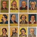 Coleccionismo Cromos antiguos: 31 CROMOS HOMBRES CELEBRES, DE VALENCIANA 1941 - 42,SERIE A B, NUNCA PEGADOS. Lote 44674236