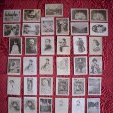 Coleccionismo Cromos antiguos: LOTE DE 40 CROMOS - J. THOMAS SERIE 30 - PINTURA Y PINTORES - FOTOTIPIA BLANCO Y NEGRO. Lote 44833405