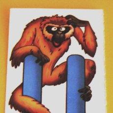 Coleccionismo Cromos antiguos: ANIMALETRAS - LETRA U DE UAU-UAU - FAUNA EN PELIGRO - BOLLYCAO 1995. Lote 91188982