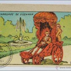 Coleccionismo Cromos antiguos: CROMO EVOLUCIÓN DEL VEHÍCULO - Nº 1. CARRUAJE DE D'OZANAM - CROMOS CULTURA, BRUGUERA - 6 X 4,5 CM. Lote 289827393