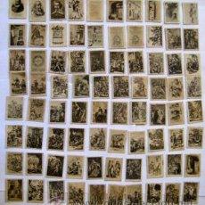 Coleccionismo Cromos antiguos: COLECCIÓN COMPLETA : 80 FOTOTIPIAS DE CERILLAS DON QUIJOTE. Lote 45835523