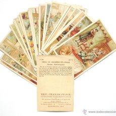 Coleccionismo Cromos antiguos: LOTE 24 CROMOS FIRMA DE HOMBRES CELEBRES PUBLICIDAD THE ELIXIR PUJOL. BARCELONA AÑOS 20 - 30. Lote 45928550