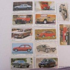 Coleccionismo Cromos antiguos: LOTE DE CROMOS AUTOMOVILES MOTOR 16. Lote 45997503