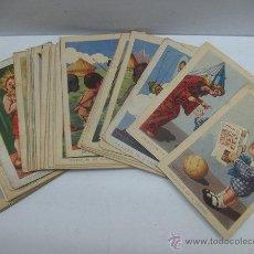 Coleccionismo Cromos antiguos: CHOCOLATE AMATLLER, COLECCION DE 36 CROMOS DE AVENTUIRAS DE PAQUITO Y CARBONILLA. Lote 46031471
